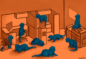 office otters by CranberryNoodles