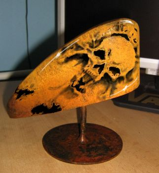 clear coat over rusted peanut tank.  then airbrush by mountaintrout