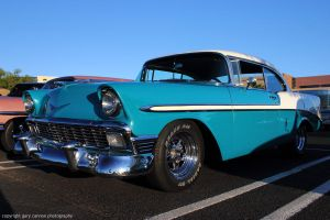 Chevy Belair - blue 1956 by worldtravel04
