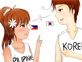 FIBA-talia Philippines vs. South Korea (WIP?) by adventvera16