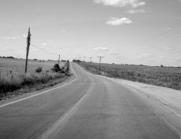 Road going to Leeton, Missouri by djPhotos