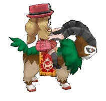 pokemon x and y female trainer riding on gogoat by Jenske05