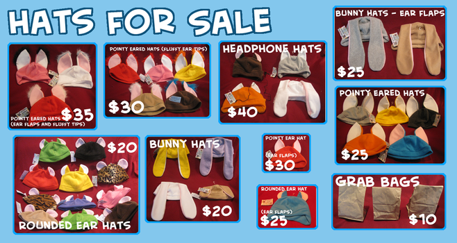 Hats for sale :3 by x-Wolfeh-x