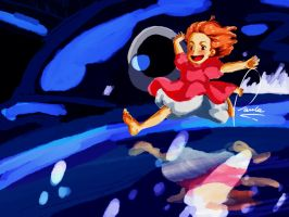 ponyo. by pineapplefield4ever