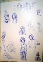 Sketches in class by PauPaufg