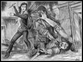 The last of Us Fight by Pipi94