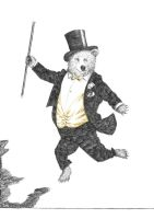 Fred Astaire Bear by artlambi