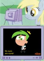 Derpy TV meme - Fairy Cosmo by BB-K
