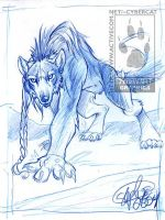 Blue Pencil Were Wolf by lady-cybercat