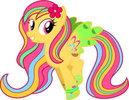 [Request] Hawaiian Breeze with Rainbow Power by Volodragon