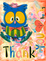 Owl Thankyou Card by Pocketowl