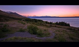 Lake Pukaki Sunset New Zealand by Thrill-Seeker