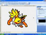 Jolteon in MS Excel by CrowKuroa