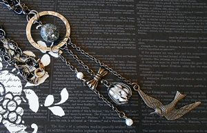 SOLD OUT: Birds Fly Free: Necklace by random-wish