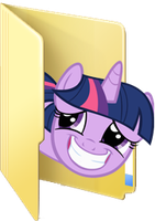 Custom Twilight Sparkle folder icon by Blues27Xx