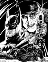Batman Returns Illo - 1992 by BigGuido