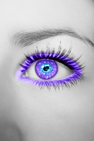 Purple Blue Glittering Eye by Crazy-Kiwii