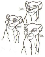 TLK Lioness Line Art by Tigz-Moonlight