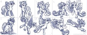 Young Cadance Sketches by KP-ShadowSquirrel