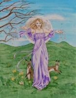 The Goddess Ostara by mickiemueller
