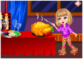 Dress up Little Girl in Thanksgiving by willbeyou