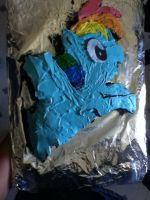 Rainbow Dash Cake Practice by TechnoFreshyyKidd