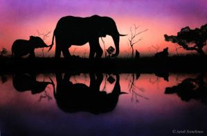 Elephants - Spray Project by ScenicSarah