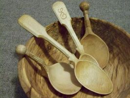 Wooden Spoons by Dishtwiner