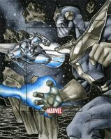 Thanos n Silver Surfer MHV AP by RichardCox