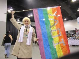 APH - Russia and the Yaoi Flag by PockyPlus