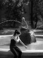 cooling by the fountain by HeretyczkaA
