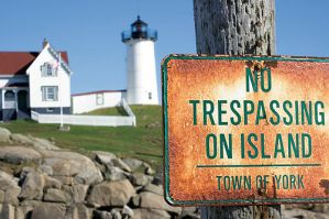 No Trespassing Light House by ironman8855