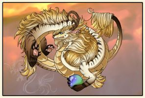 Desert Lung Dragon by jeweledphoenix