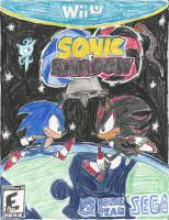 Sonic + Shadow boxart by PuffyTopianMan