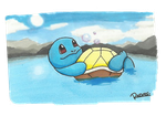 Background Practice: Squirtle by Randomous