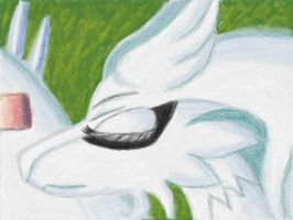 Sleeping Reshiram by MelodyCrystel