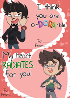 Science Bros Valentine Cards by ecokitty