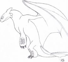 Toothless Sketch by ArtisticCole