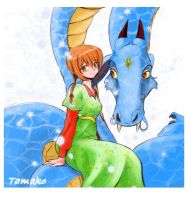Tamako and the dragon by Inusen