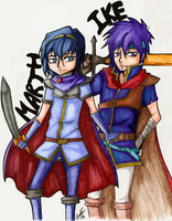 Marth and Ike - by YoukoKurama25