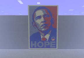 Obama Hope Poster - Minecraft by SophisticatedCreeper