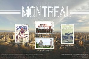 Iconic Landmarks in Montreal - A Stamp Series by zmdigital