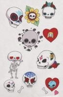 SugarSkull Stickers by angelacapel