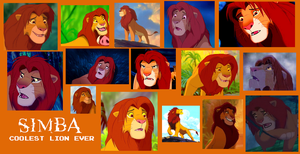 Adult Simba From Lion King Collage by Scamp4553
