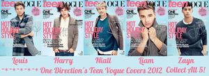 One Direction Teen Vogue Covers 2012 by iluvlouis