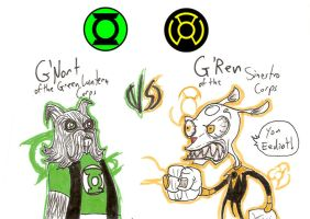Sinestro Corps Rejects III by What-the-Gaff