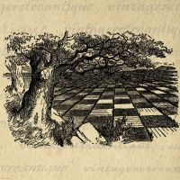 Huge Game of Chess Alice in Wonderland No.223 by VintageRetroAntique