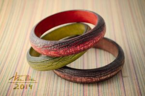 Wooden bracelets by dallia-art