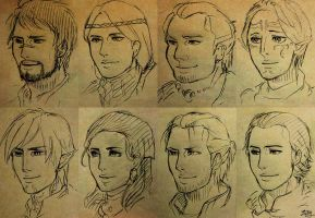 hawke and companions by zzingne