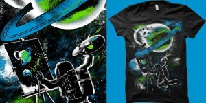 space painting t shirt by biotwist